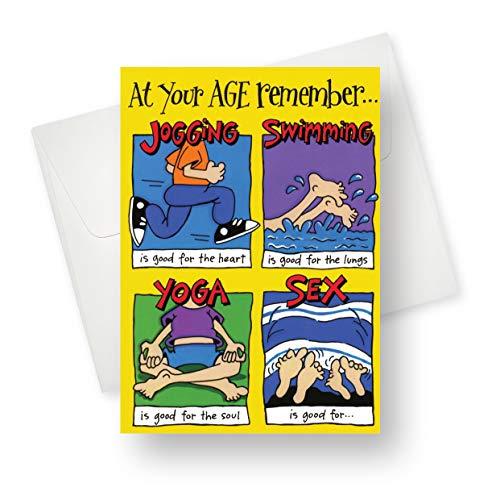 Nordische Karten - Good for (Geburtstag) Premium-Qualität Grußkarte mit einzigartigem witzigem Design - für Erwachsene, 14 x 19 cm