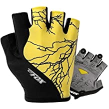Shinmax Full Finger Mountain Road Guantes de Bicicleta, Unisex Winter Gel Resistencia Warm Gloves Riding Ciclismo Ciclismo Bicicleta Guantes (Medio Amarillo, XL)