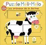 Puzzle Meli Melo: Les animaux de la ferme - Dès 1 an