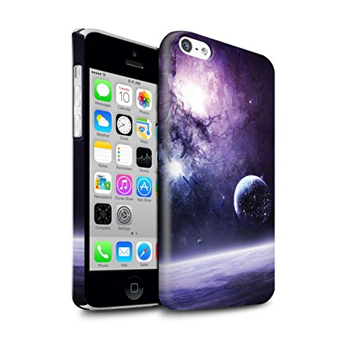 Offiziell Chris Cold Hülle / Glanz Snap-On Case für Apple iPhone 5C / Pack 12pcs Muster / Fremden Welt Kosmos Kollektion Planet/Mond