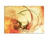 Wandbild 100x70cm Abstrakte Malerei Optik wie handgemalt Bilder fertig gerahmt mit Keilrahmen riesig. Ausführung Kunstdruck auf Leinwand. Günstig inkl Rahmen abstrakt, stilvoll, modern, zeitlos, vintage