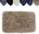 Amazinggirl Waschbar Badezimmerteppich 40X60 cm Einzeln Teppich flauschig und antirutschfest Badematte