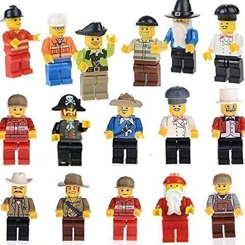 Lot de 20 personnages - Jeux de construction compatible LEGO
