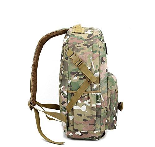 Yoxi zaino Zaino trekking Outdoor Travel Weekender ventiquattrore borsa da combattimento tattico zaino borsa, Camouflage#1 Khaki