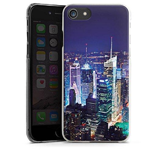 Apple iPhone X Silikon Hülle Case Schutzhülle Stadt Skyline Big City Hard Case transparent