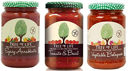 Tree of Life Organic & Gluten Free Pasta Sauce 3 Mixed Flavours (Pack of 6)