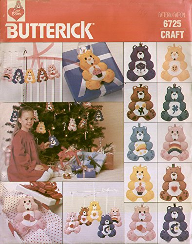(Butterick Craft Muster 6725 – Care Bear Ornaments)