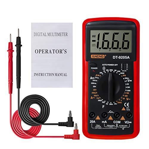 lailongp DT9205A Digital-Multimeter-Triodendioden-Widerstandsverstärker-Elektrotester </>