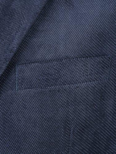Herren Sakko Polyester in Struktur-Qualität by Roger Kent Dunkelblau