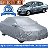 #8: Autofact Premium Silver Matty Triple Stitched Car Body Cover with Mirror Pocket for Honda City Zx (2004 to 2008)