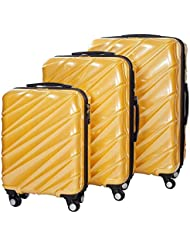 Shaik 7203110 Trolley Koffer, 3er Set ( M, L, XL), gelb