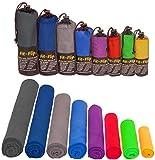 Fit-Flip 3-TLG Fitness-Handtuch Set mit Reißverschluss Fach + Magnetclip + extra Sporthandtuch | zum Patent angemeldetes Multifunktionshandtuch, Microfaser Handtuch
