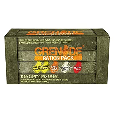 Grenade Ration Pack, Multi-Vitamins with added Probiotics and BCAAs - 30 Count by Grenade