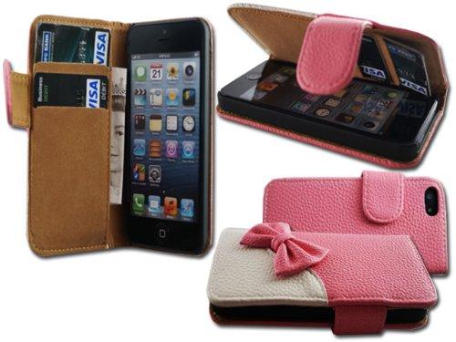 Nœud en cuir élégant étui portefeuille à rabat pour Apple i Phone 64.7Plus 5,5