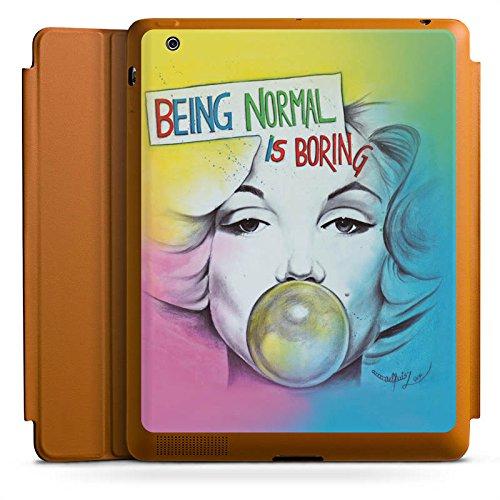 d 4 Smart Case karamell Hülle mit Ständer Schutzhülle Marilyn Monroe Star Sayings ()