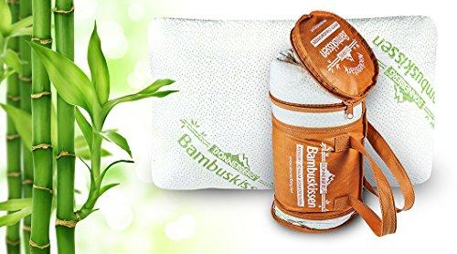 Oreiller à mémoire de forme Donnerberg ® Coussin en fibre de bambou – Idéal pour les cervicales – Marque allemande