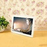 Digitale Bilderrahmen Elektronischer Foto-Rahmen-Video-Multimedia-Digital-Foto-Rahmen-breiter Schirm 16: 9 HD 1080p Supermarkt-Speicher-Werbungs-Anzeige 12.1inch (Farbe : Weiß)