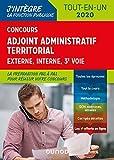 Concours Adjoint administratif territorial - Tout-en-un - Externe, interne, 3e voie - 2020...
