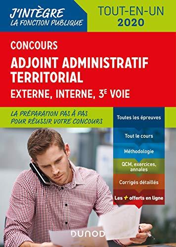 Concours Adjoint administratif territorial - Tout-en-un - Externe, interne, 3e voie - 2020 par  Odile Meyer, Jean LEPAGE-LAURENS, Benoît Priet, Philippe Boucheix