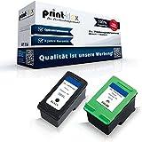 Print-Klex 2x kompatible Tintenpatronen für HP Photosmart C-4340 C-4345 C-4380 C-4384 C-4385 C-4390 C-4400 Series C-4410 C-4424 C-4435 C-4440 C-4450 C-4470 C-4475 HP350XL HP351XL - Quantum Plus Serie