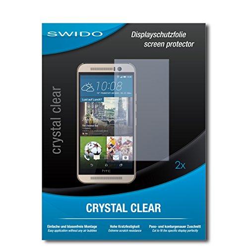 SWIDO Schutzfolie für HTC One M9s [2 Stück] Kristall-Klar, Hoher Härtegrad, Schutz vor Öl, Staub & Kratzer/Glasfolie, Bildschirmschutz, Bildschirmschutzfolie, Panzerglas-Folie