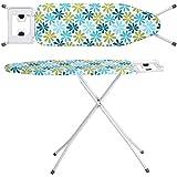Zizer Self Standing - Extra Large Foldable Ironing Board with Ironing Table with Iron Stand (IroningBoard-Turqoise) (Turqoise) (Turquoise)