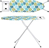 Zizer X-Pres Ace - Extra Large Foldable Ironing Board with Ironing Table with Iron Stand (IroningBoard-Turqoise) (Turqoise) (Turquoise)