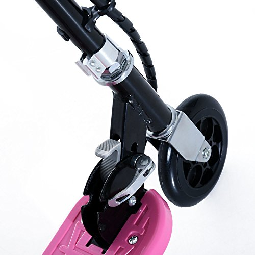 bc2b04e461fbc HOMCOM Patinete Eléctrico para Niño Scooter Plegable Rosa Patinete  Eléctrico Plegable E-Scooter.