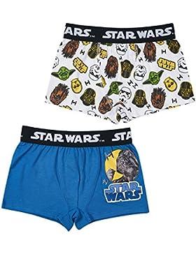 Star Wars-The Clone Wars Darth Vader Jedi Yoda Ragazzi Boxer (pacco da 2) - blu
