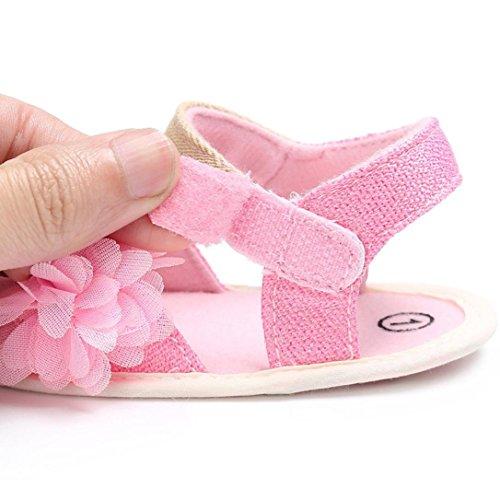 Igemy 1Paar Baby Kleinkind Mädchen Nette Krippe Schuhe Soft Prewalker Soft Sole Schuhe Rosa