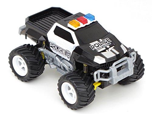 Diawell RC ferngesteuertes Polizei Pick Up Polizeiauto Monstertruck Truck Vollfederung Warnlicht 210 mm Lang*