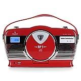 auna RCD-70 • Radio VHF • Design rétro • Look nostalgie • Port USB...