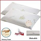 VENIXSOFT Lot de 2 oreillers pour le lit Ergonomique pour le lit à mémoire de forme...