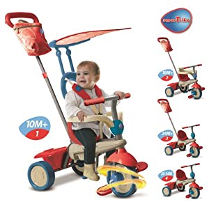 SMARTRIKE Giochi Preziosi Ofr6700400 Triciclo de Smart Trike Vainilla 4 1 Rojo