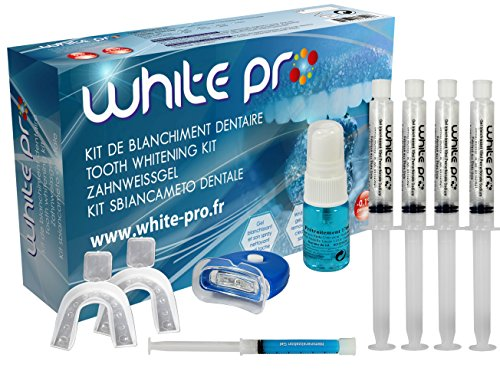 *WHITE-PRO* 40ML+LIGHT+ Zahnweiß-Gel SETS+REMINERALISIERUNG *4X10ML*-home bleaching zahn weiss gel-MADE IN USA-*SPEZIEL FORMEL WHITE-PRO*