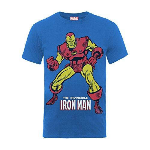 Marvel BILMC00048K-ROYAL BLUE - Camiseta Manga Corta de manga corta para hombre,...