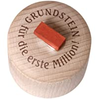 "Money Box with Text ""Grundstein für die Erste Million""-"