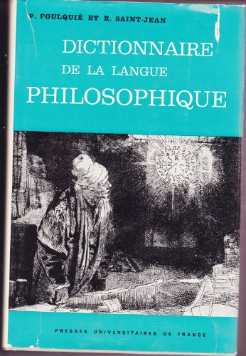 Dict. Langue Philosophique