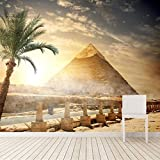 Sucsaistat Wüstenägypten-Pyramide-Tapeten-Natur 3D des Himmel-Tapeten-3D, Bar Lounge Sofa Tv Background Wallpaper Bedroom-250 * 175CM