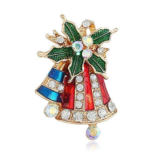 VHVCX Weihnachtskranz Ornament Weihnachten Bell Brosche Kleidung Geschenk Cap Elk Stick Stiefel Weihnachtsstrumpf Bogen Brosche Schneeflocke Strickjacke Kostüm, Hut - Bögen Kostüm Stiefel