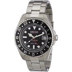 Nautec No Limit Men's Deep Sea Watch DS AT-GMT/STSTBKBK