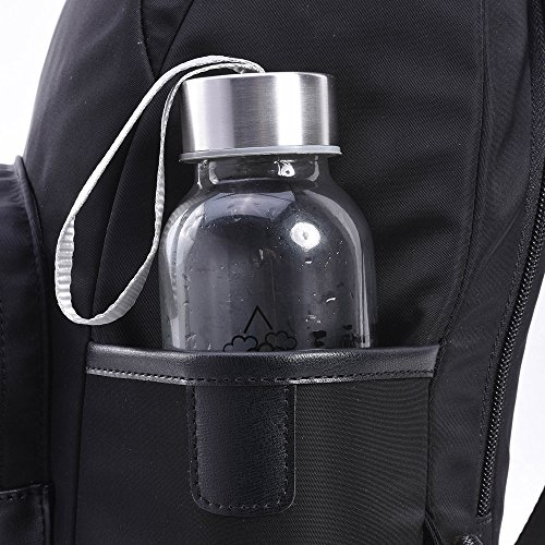Bwiv Damen Rucksäcke Oxford Cloth Schulrucksack Vintage Schultertasche Daypack Outdoor Backpack Tasche für Retro Reisetaschen Lässige Blau Schwarz