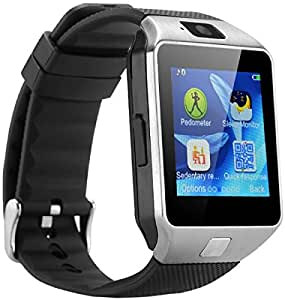 MIRZA DZ09 Bluetooth Smart Wrist Watch for LG g5 (Bluetooth DZ09 Smart Watch Wrist Watch Phone with Camera & SIM Card Support Hot Fashion New Arrival Best Selling Premium Quality Lowest Price with Apps like Facebook, Whatsapp, Twitter, Sports, Health, Pedometer, Sedentary Remind & Sleep Monitoring, Better Display, Loud Speaker, Microphone, Touch Screen, Multi-Language, Compatible with Android iOS Mobile Tablet-Silver Color)