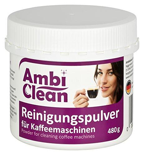 AmbiClean Reinigungspulver für Kaffeemaschinen, 480 g  Gründlich  Geschmacksneutral  Schnell |...