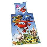 Super Wings Ropa de Cama, algodón, 200x 135x 0,2cm
