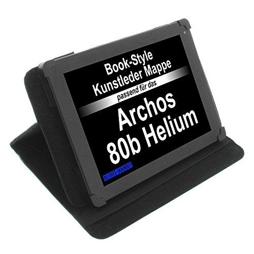 foto-kontor Tasche für Archos 80b Helium 80c Xenon 80 Cesium 80 Oxygen Book Style Schutz Hülle Buch schwarz