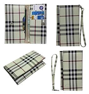 Jo Jo A5 BB Leather Wallet Universal Pouch Cover Case For ARCHOS Diamond S Beige