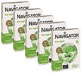Navigator Eco-Logical 442974 Carta da stampa riciclata A4, 75 g/m, 5 pezzi x 500 fogli