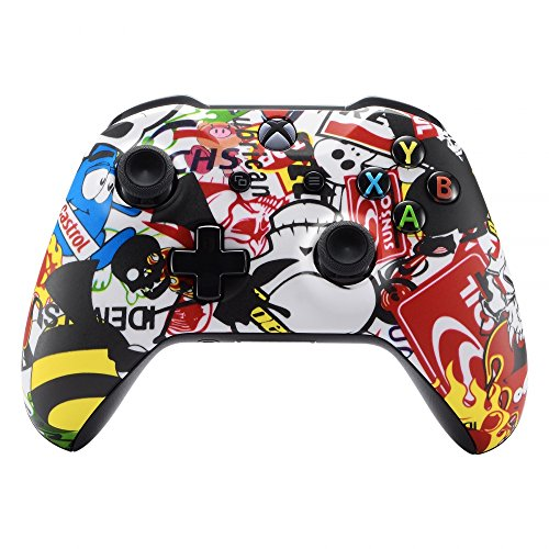 eXtremeRate® Sticker Bomb Faceplate Cover, Soft Touch Front