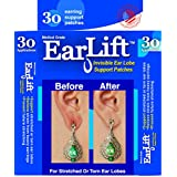 EarLift - Made In U.S.A - Invisible Ear Lobe Support Waterproof Medical Patches - 30 Patches